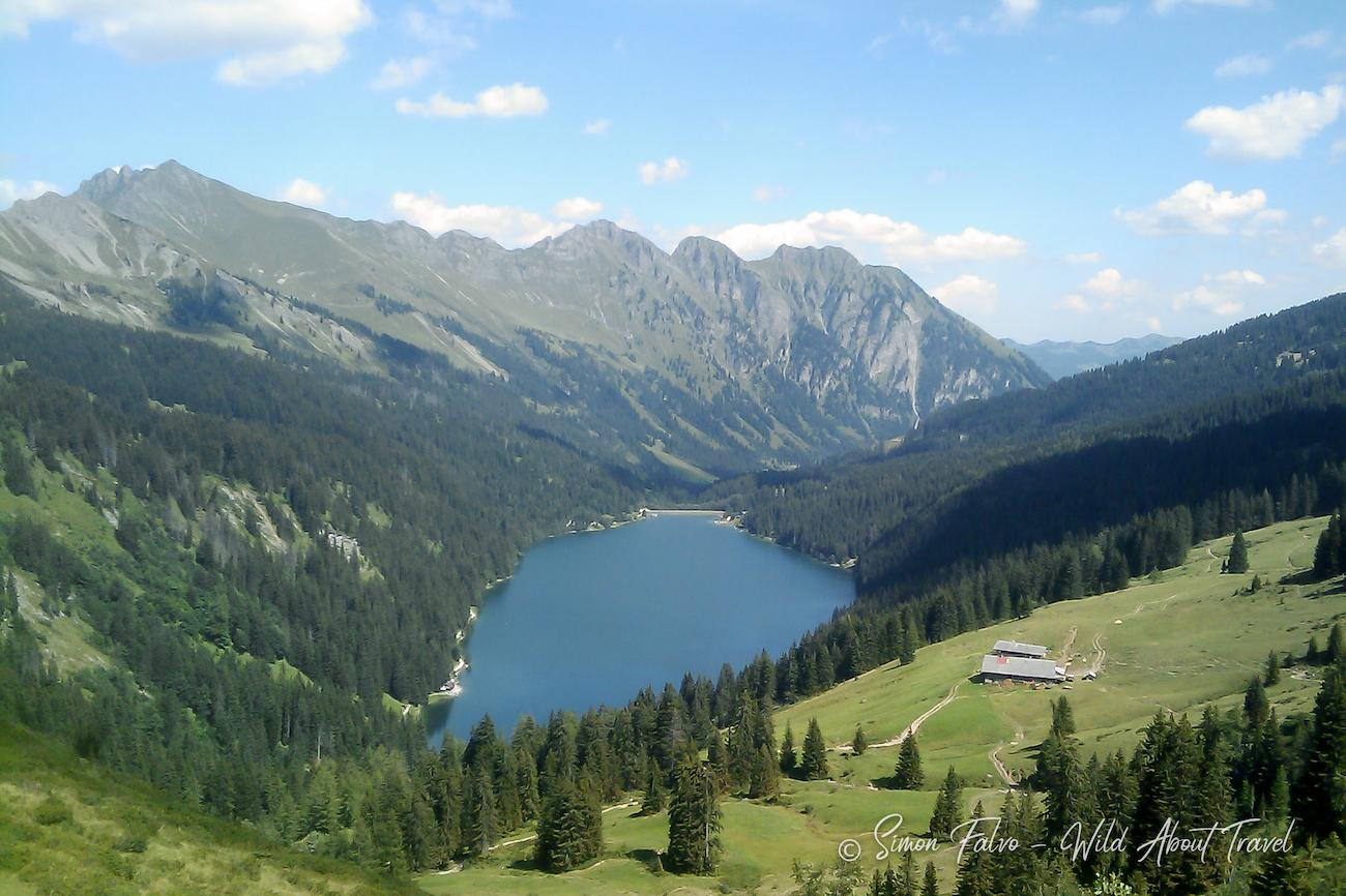 Lake Arnensee from above