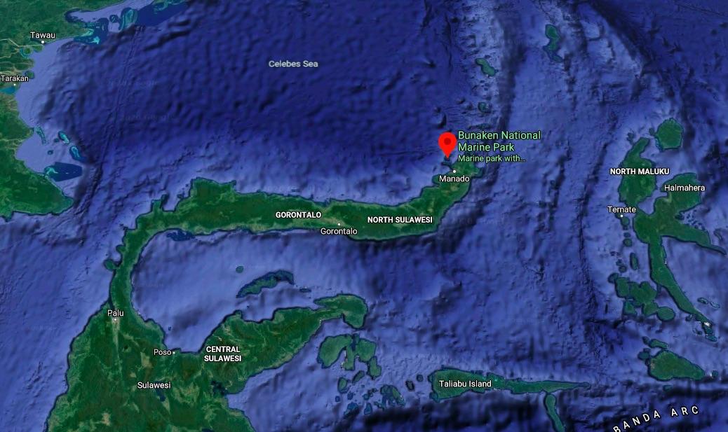 Bunaken Marine Park Map