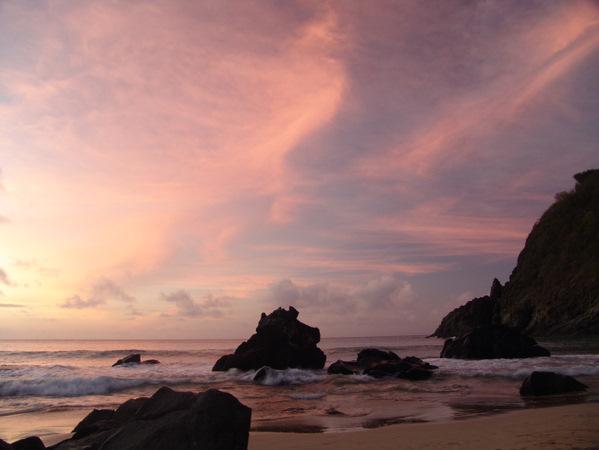 Pink Sunset Fernando Noronha Brazil