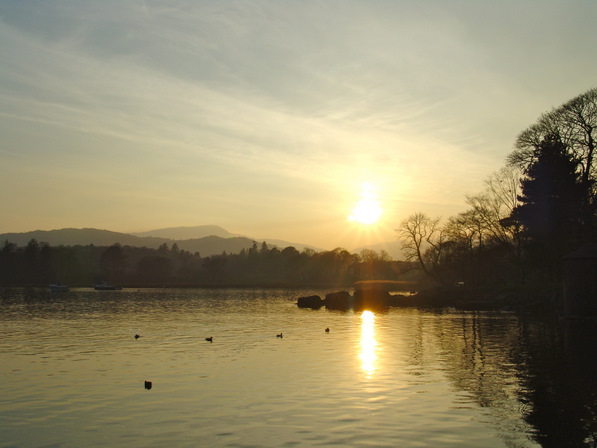 Sunset on Windermere Lake, Cumbria