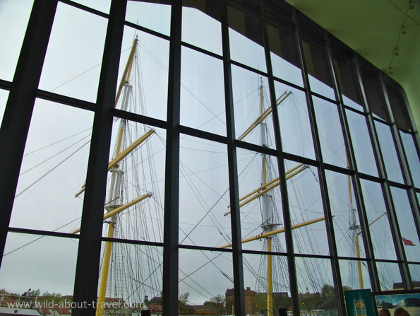 The Glenlee Ship reflected in the Riverside Museum Façade