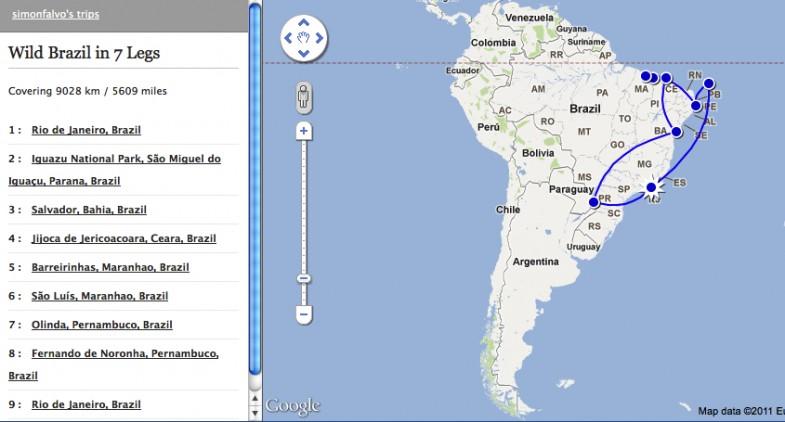 Wild Brazil Map