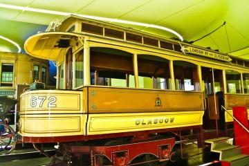 Glasgow Riverside Museum Yellow Streetcar
