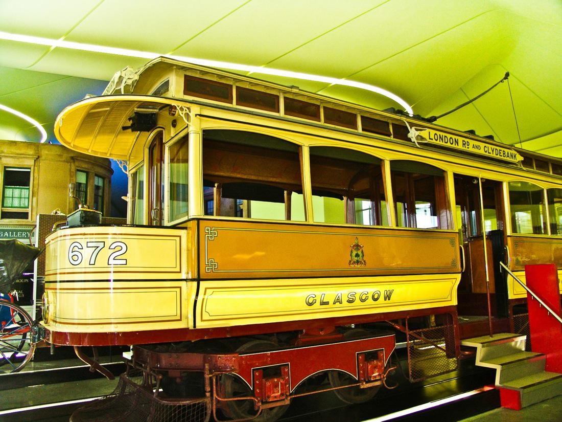 Glasgow Riverside Museum Yellow Streetcar