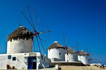 Greece, Mykonos Windmills