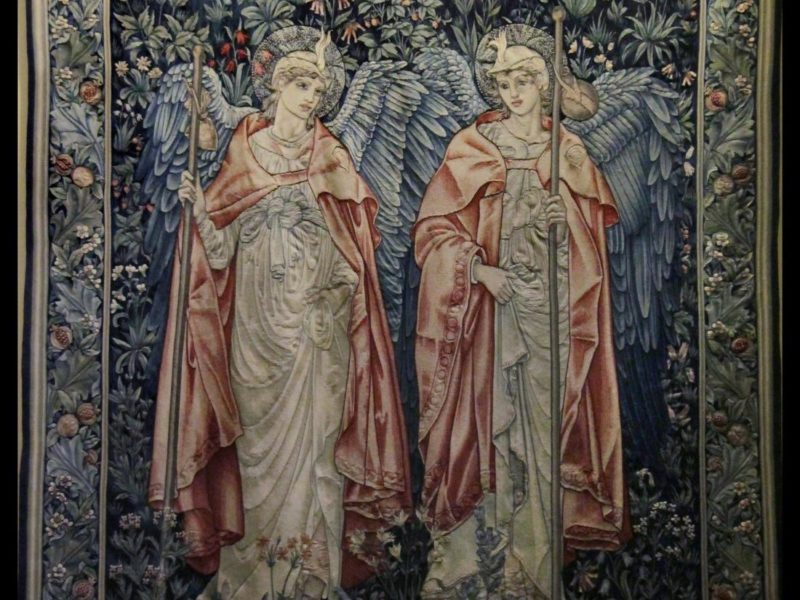 Victoria : Albert Museum. Tapestry - Angeli Minstrentes, by Kotomi_