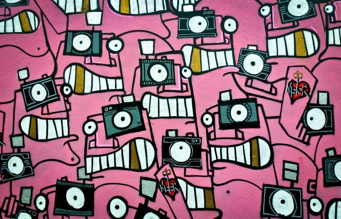 London, Street Art Pink
