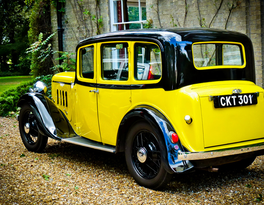 Old-yellow-car