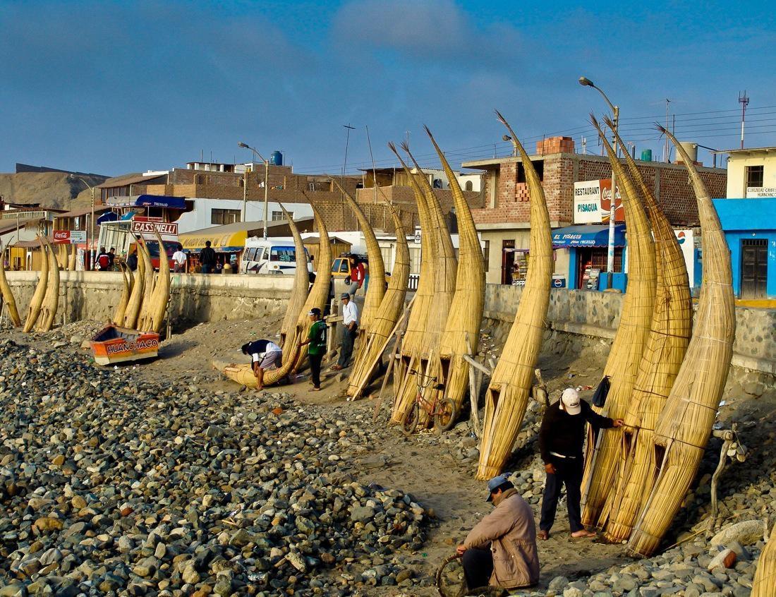 Peru, Huanchaco Totora Boats