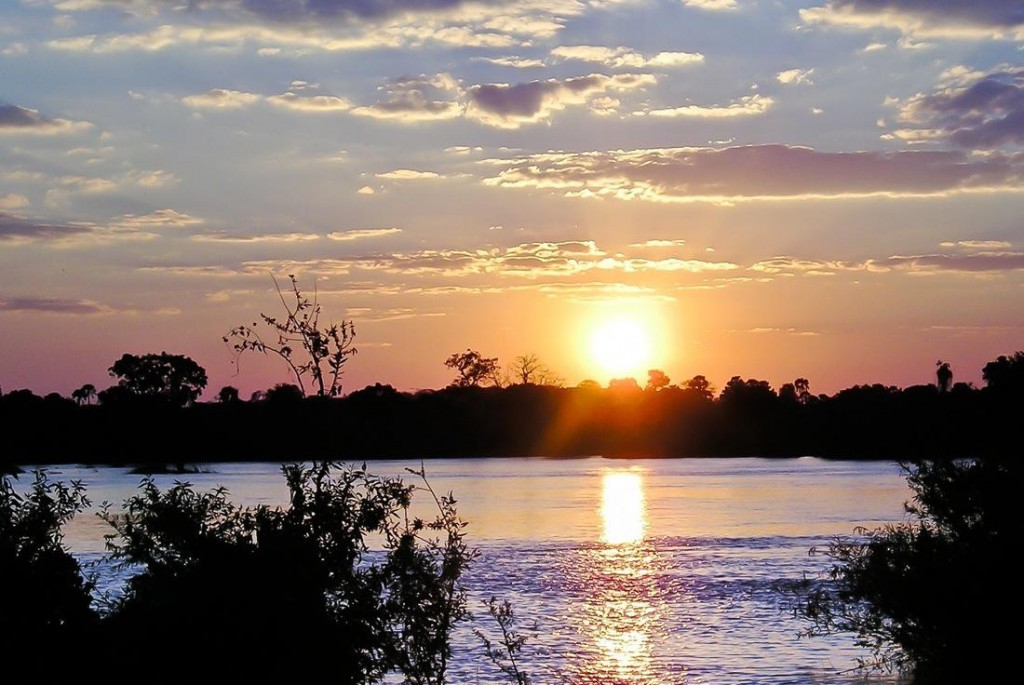 Sunset Victoria Falls