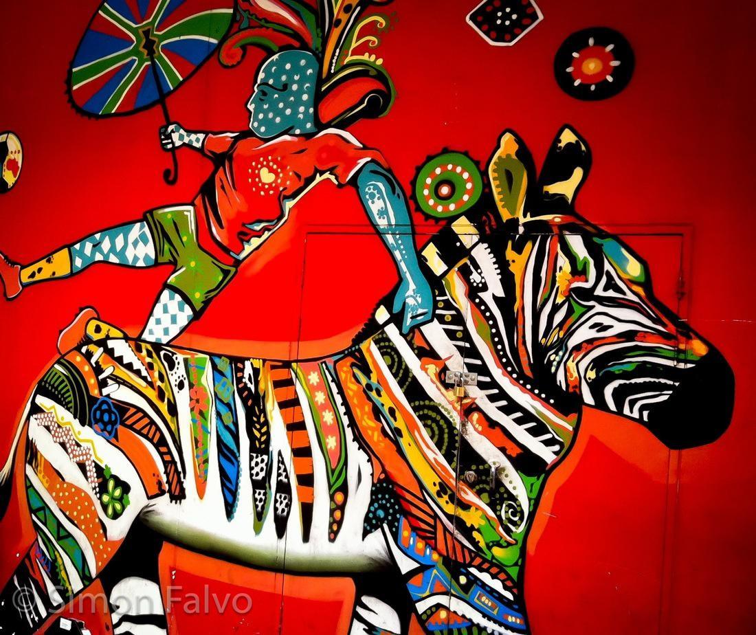 Cape Town, Street Art Zebra