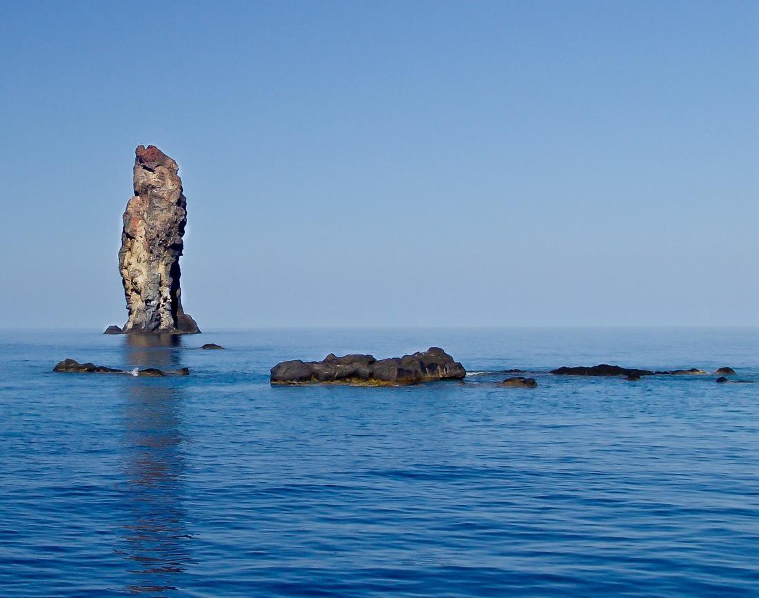 Italy, Aeolian Islands, A rock in the sea