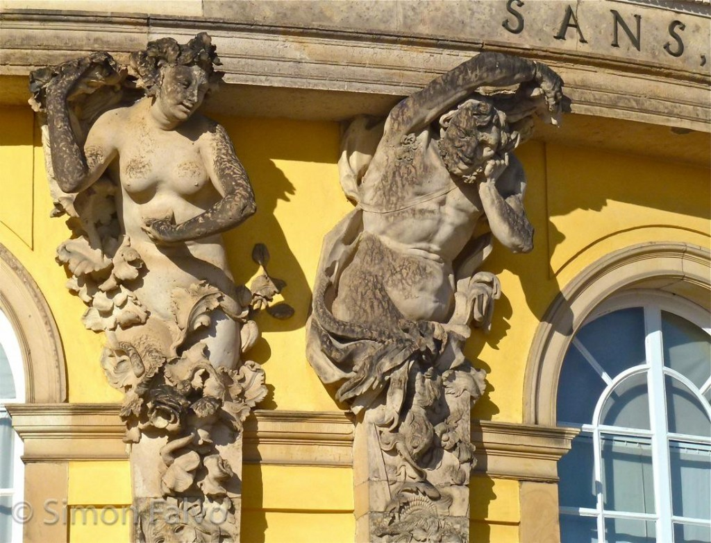 Germany, Potsdam Sanssouci Palace Rococo Statues