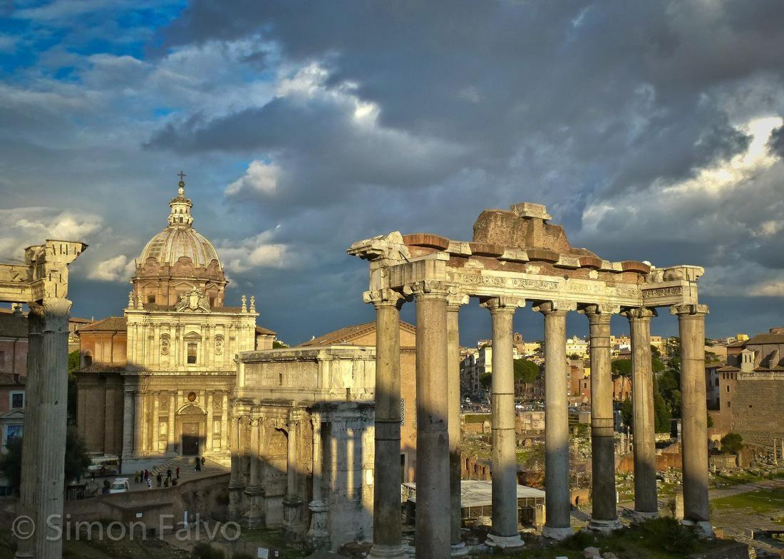 Rome Forum at dusk