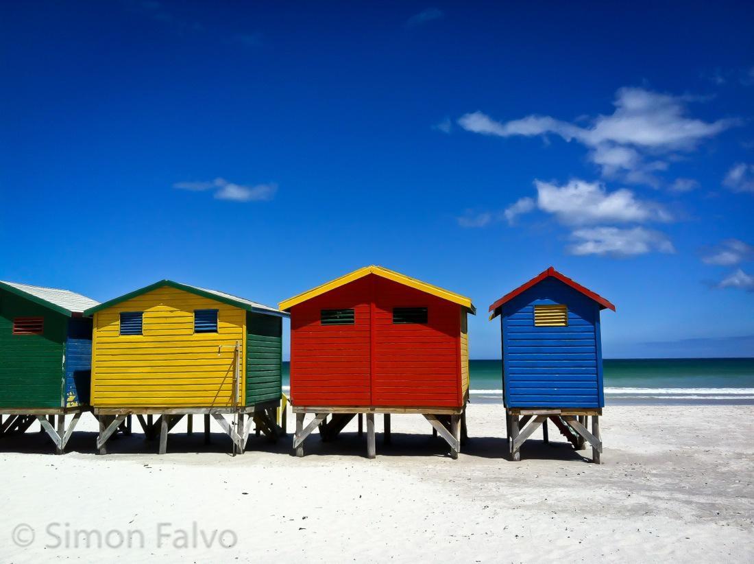 South Africa, Muizenberg Beach Huts