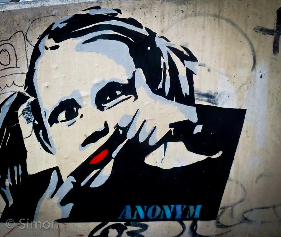 Berlin, Street Art Funny Grimace