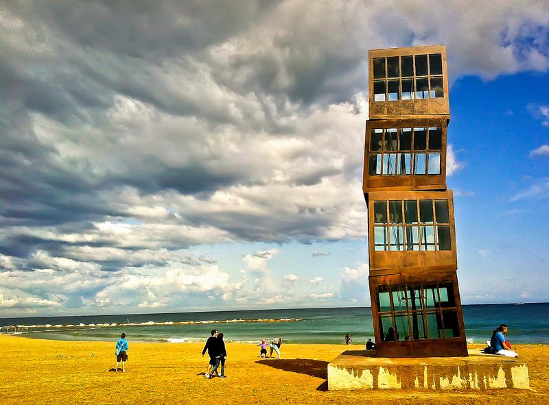 Spain, Barcelona Beach Sculpture