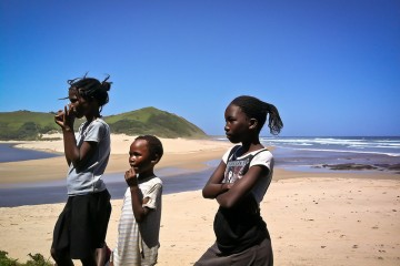 South Africa Kids on the Beach