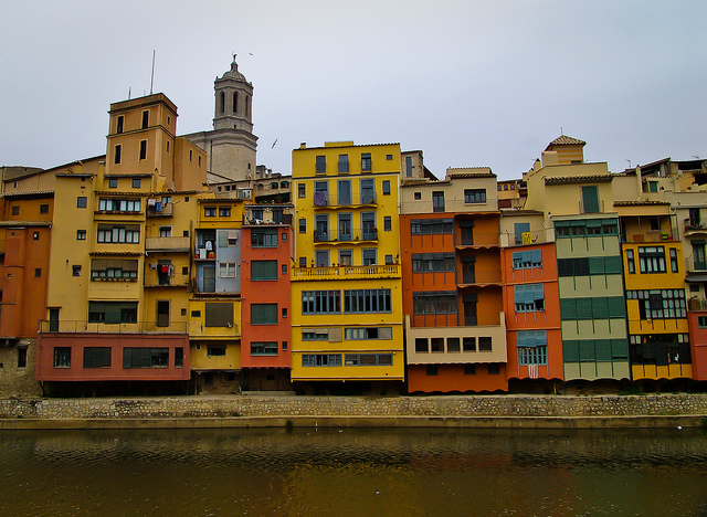 Girona Colored Houses Onyar
