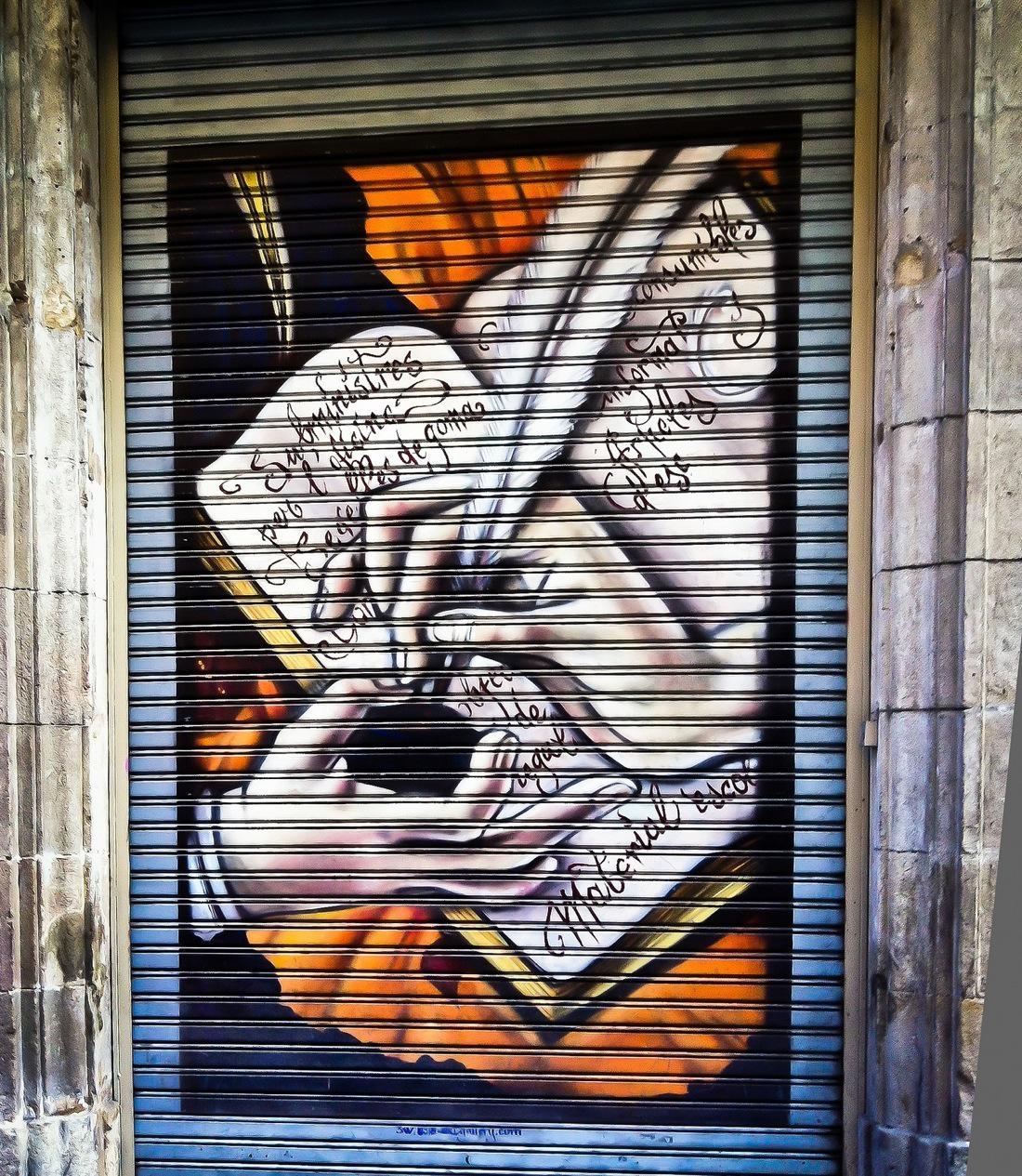 Barcelona Shutter Art