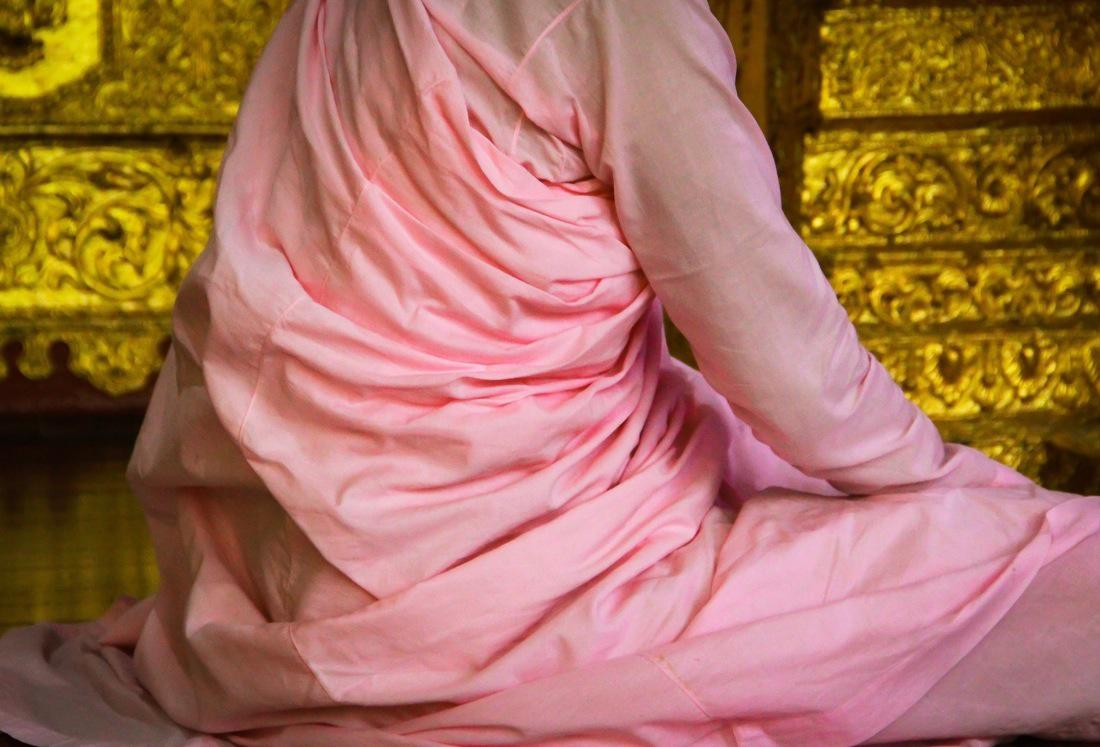 Buddhist Nun Pink Robe