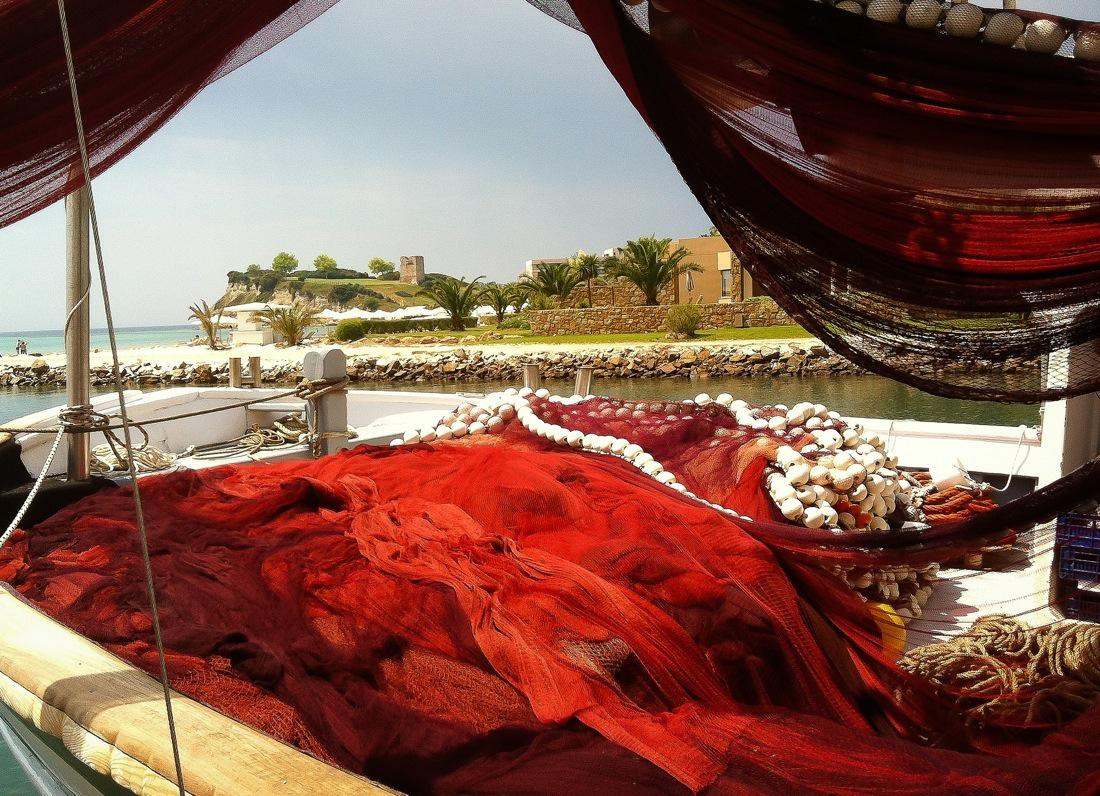 Greece, Decorative Fishing Boat