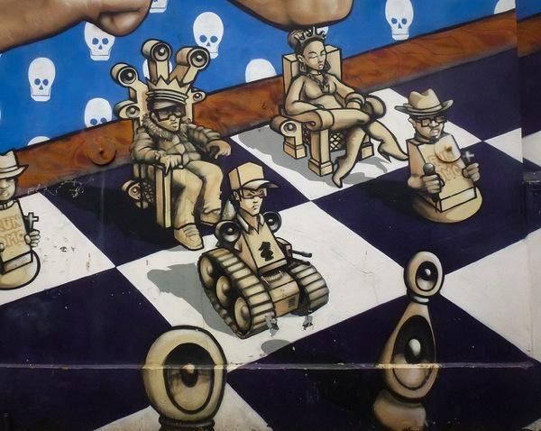 Odisy and Aroe, The Run DMC Mural