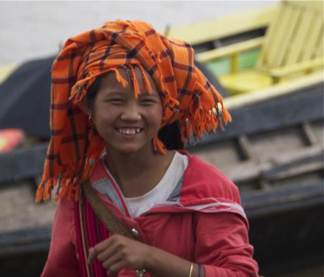 Smiling Burma Girl
