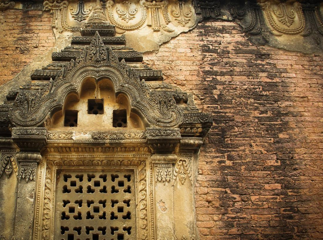 Burma Temple Window Carvings
