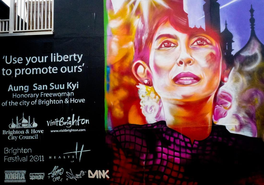 Brighton Street Art - Use Your Liberty to Promote Ours