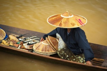 Burma Floating Shop Inle Lake
