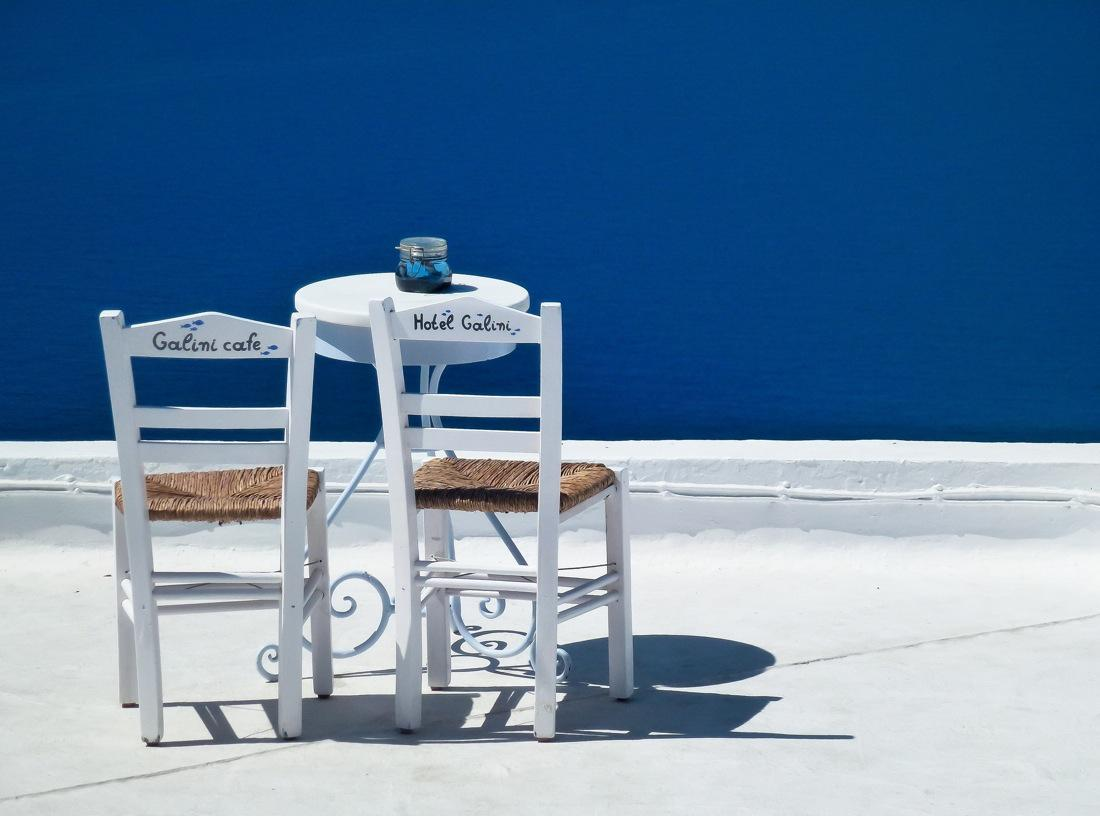 Greece. Santorini in White and Blue