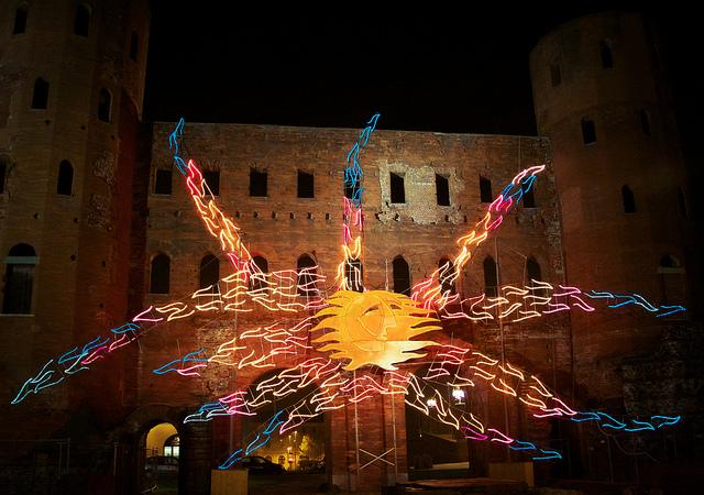 Torino Luci d'Artista - Luigi Nervo - Vento Solare