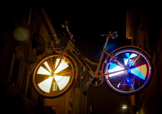 Torino Luci d'Artista - Martino Gamper - Luci in Bici