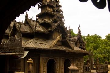 Burma, Bagan, Wooden Monastery
