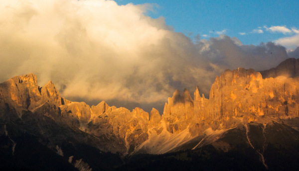 Dolomites at Sunset