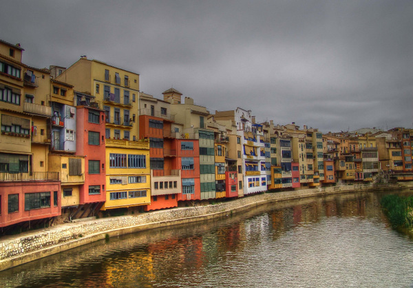 Girona Colorful Houses Along the River