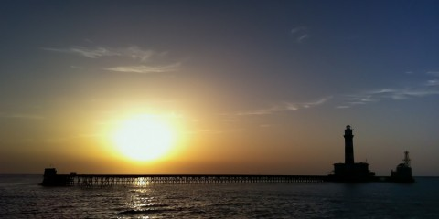 Sunset at Brothers Islands Red Sea