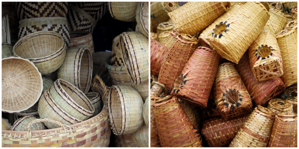 Burmese Market, Hand-Made Baskets