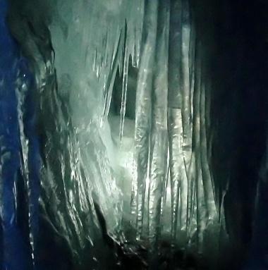 Hintetux Glacier - Ice Stalactites