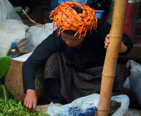 Inle Lake Market, A Pa-O Girl