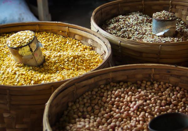 Burmese Market, Dried Legumes
