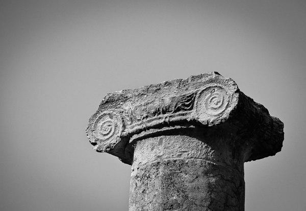 Sepino Roman Column Detail