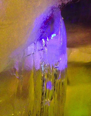 Yellow and Purple Ice Crystals