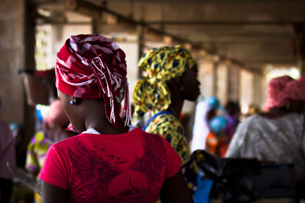 Gambia Girl at the Market