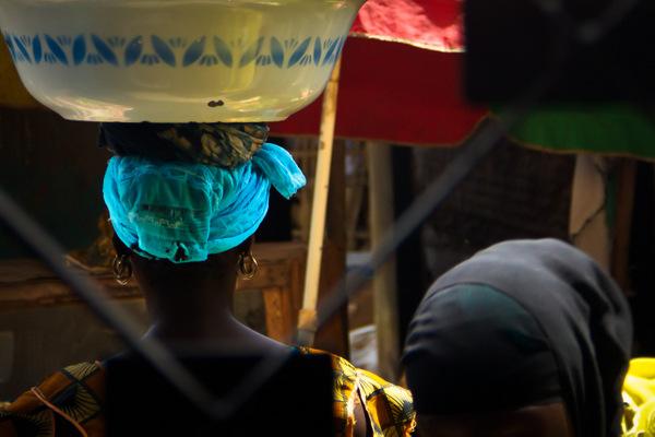 Gambia, Scenes from Brikana Market