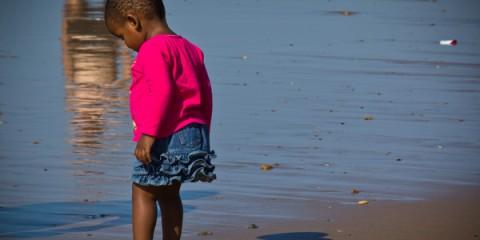 Little girl on Durban Beach