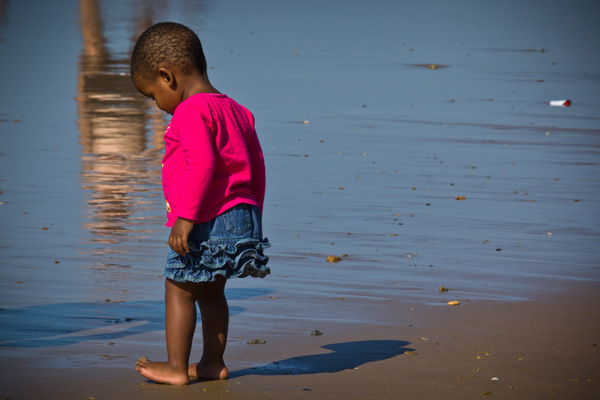 Little girl on Durban Beach