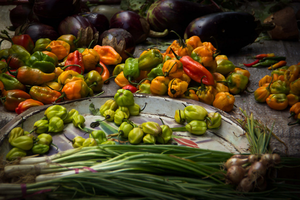 Vegetables at a Gambian Market
