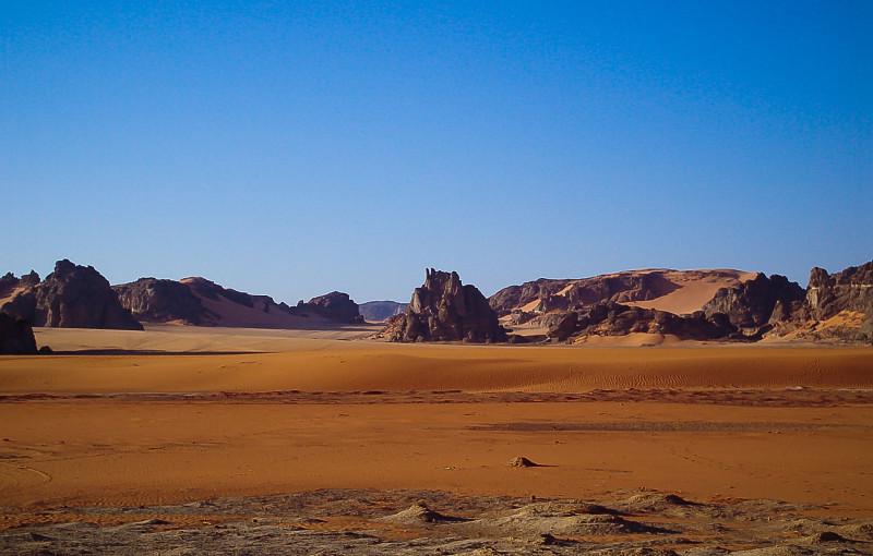 Algerian Desert at Sunset